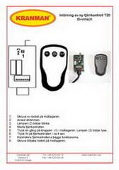 Inkodning av sändare, mottagare Teleradio T20