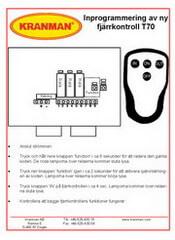 Inkodning av sändare, mottagare Teleradio T70