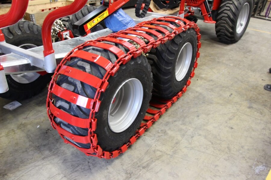 Boggieband i stål, 400/600-15,5″ hjul