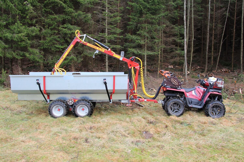 FL150 Risflak med ATV och griplastarvagn