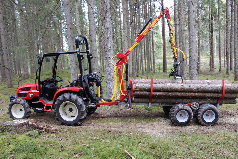Griplastarvagn T1750 med 30-50 kran