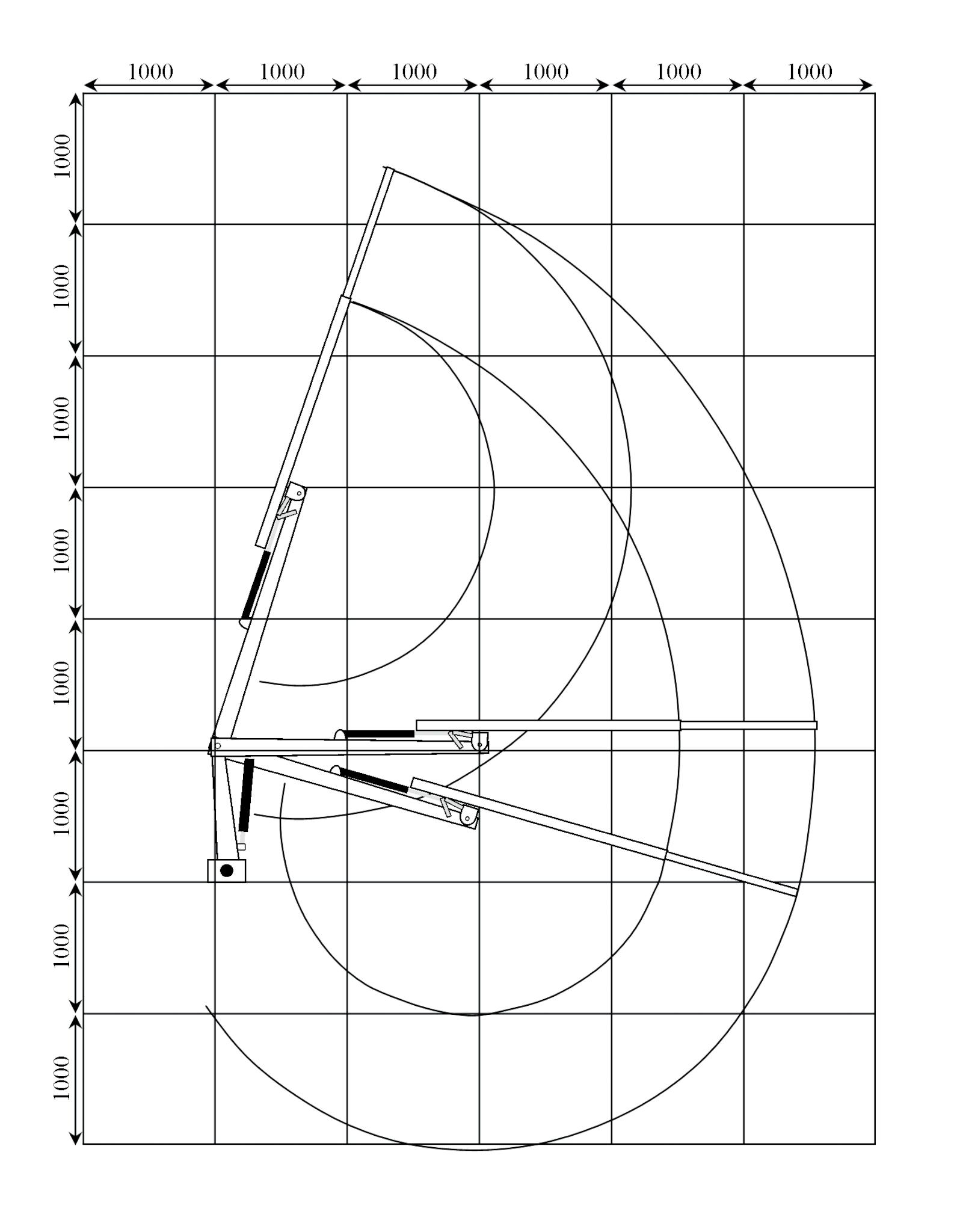 M36 proffskran 4,6m